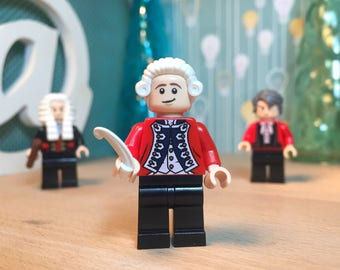 Mozart Lego® Classical Music Keychain Minifigure Keyring Gift