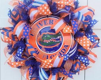 Gator Wreath, Florida Wreath, University of Florida Wreath, Florida Gators Wreath, Gators Football Wreath, FL Wreath, FL Football Wreath