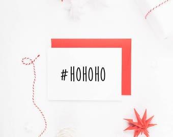 Funny Christmas Cards, Hashtag Christmas Cards, Funny Holiday Card, Christmas Card Set, Christmas Card Friends, HoHoHo Card, Xmas Cards