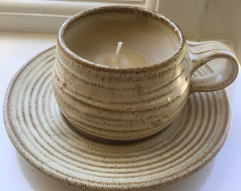 Bees Wax Teacup Candle