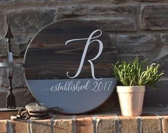 Personalized Established Date Pub Sign | Customized Initital | Farmhouse Decor | Hand Painted | Wedding Gift | Housewarming Gift
