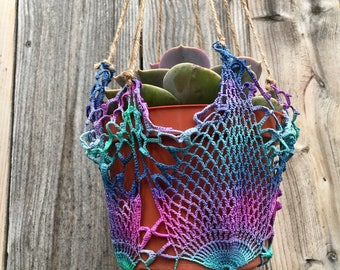 100% Recycled Hanging Mermaid Color Plant Hanger- 1 tree is planted with every purchase