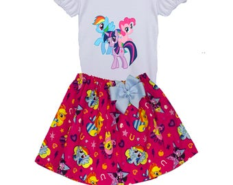 Girl My Little Pony birthday outfit toddler age name outfit  girl My Little Pony dress toddler outfit  My Little Pony Girl birthday outfit