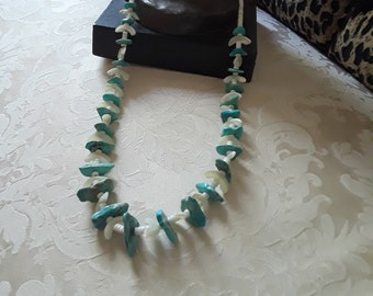 Native American turquoise long strand long necklace
