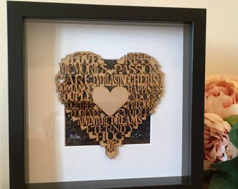Picture Frame, Glitter, Love Expressions, Heart Picture Frame, Sparkly Picture Frame, Engagement, Wedding, Anniversary, Glitter Art