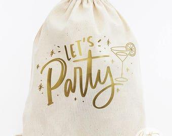 Let's Party 8x10 Favor Bag // Party Favor Bag // Bachelorette Party Favor Bag // Birthday Party Favor Bag // Party Favors