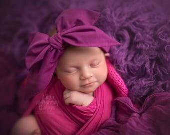 ORCHID Gorgeous Wrap- headwrap; fabric head wrap; head wrap; boho; newborn headband; baby headband; toddler headband