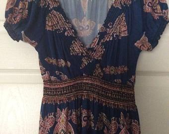 Boho Venice Beach Moroccan  Maxi Dress