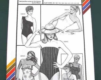 1984 Stretch-n-Sew Pattern #1361 Women's Tube Swimsuit Bust Sizes 30-46 Uncut