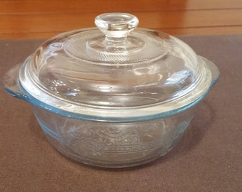 Fire King Saphhire Blue Mini Casserole Bowl with Lid