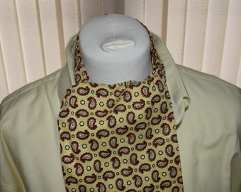 Duggie 1960's Yellow and Red Paisley Patterned Cravat