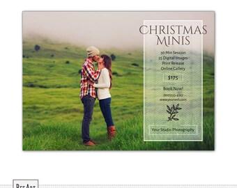Christmas Mini Session Template, Holiday Mini Session Template, Photography Marketing Template, Christmas Minis Template PSD Photoshop s535