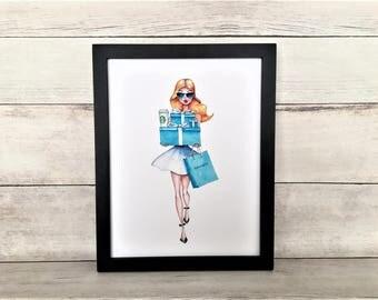 Tiffany and Company, Tiffany and Co Print, Tiffany Print, Tiffany Wall Art, Tiffany Printable, Fashion Art, Tiffanys, Fashion Print, Fashion