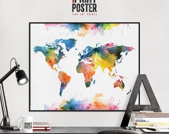 world map travel map world map poster world map print world map