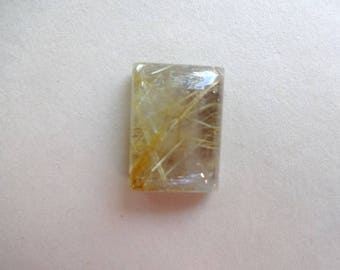Golden rutilated quartz cabochon 17x13 mm