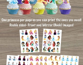 Disney Princess Cupcake Toppers, Disney Princess Birthday, Princess Decor, Cupcake toppers, Princess Party, Princess Birthday Party
