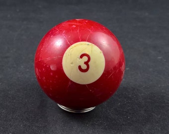 Nr 3 ball old pool ball pool billiard old billiard ball billiard 3 ball vintage pool ball vintage 3 ball vintage billiard ball