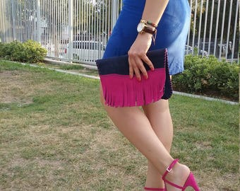 Dark Blue Clutch Handbag