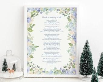 Custom Poem Print Personalised 1st Anniversary Gift Wedding