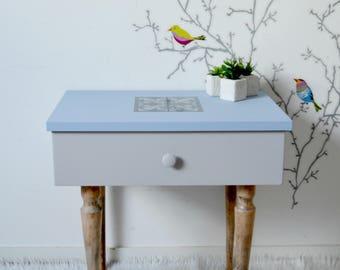 tables de chevet vintage etsy. Black Bedroom Furniture Sets. Home Design Ideas