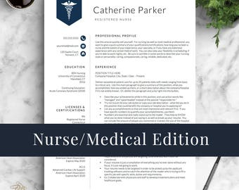 Medical resume etsy doctor resume template for word pages nurse resume template nurse cv template yelopaper Gallery