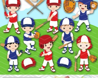 Digital Boy Baseball Clipart, Boy Baseball Digital Clip Art, Baseball Boy Team, Boy Sport Clip Art, Sport Boy Clipart, Baseball Clipart 0254