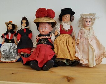 Vintage dolls - collection of antique and vintage dolls x 5