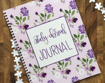 Study Abroad Journal - Purple Floral