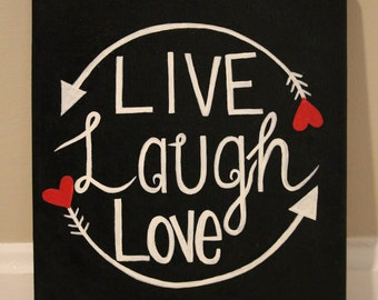 Live, Laugh, Love Painting on a canvas