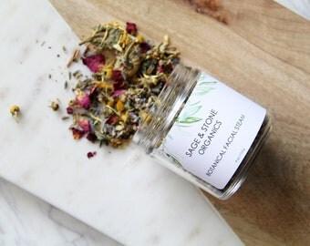 Botanical Facial Steam | 100% Organic Facial Steam | All Natural Facial Steam | Floral Facial Steam | Herbal Facial Steam