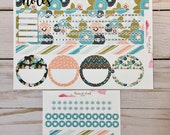 EC Monthly Notes Page Sticker Set - Bloom