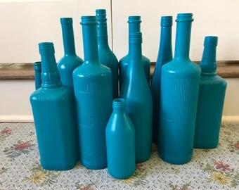 Wine bottle vase etsy for Liquor bottle vases