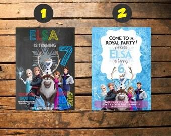 Frozen Birthday Invitation Printable, Frozen Invitation, Frozen Birthday Party Invites, Winter Invitation, Frozen Invite, Snowflake
