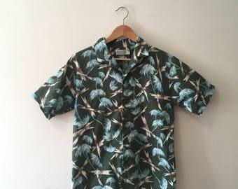 Vtg Kula Bay hawaiian print button up short sleeve shirt