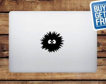 Hedgehog - Macbook Apple Decal Sticker / Laptop Decal / Apple Logo Cover / 2 for 1 price