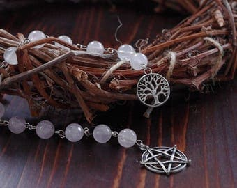 Prayer beads Witch Beads Wicca Rosary  Witch Rosary  Ritual Prayer beads Pagan Prayer Beads Witches Ladder Meditation Beads prayer mala