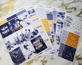 NYC | Vertical weekly kit | Planner stickers for Erin Condren/ Happy Planner/ A5/ Personal etc Planners