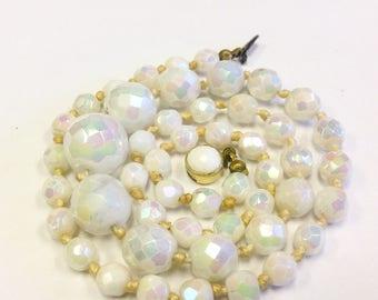1960s, Aurora Borealis, bead necklace.
