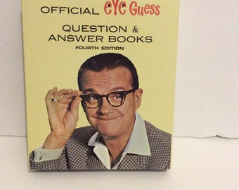 1966 Official Eye Guess Question & Answer Books With Box