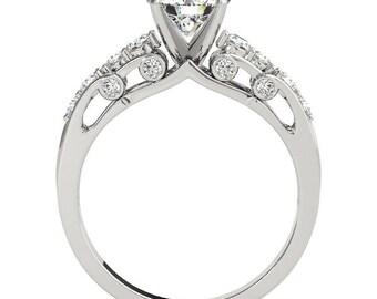 Forever Brilliant Moissanite Verra Diamond Engagement Ring