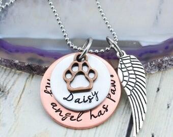 Custom Pet Memorial Necklace - Personalized Pet Memorial Jewelry - Pet Loss Gift - Loss of Pet Jewelry - Dog Memorial - Cat Memorial
