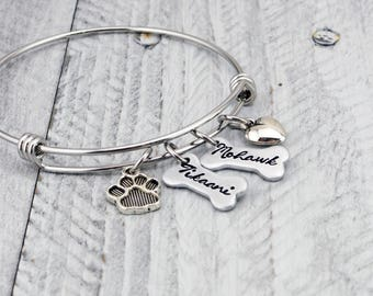 Personalized Pet Jewelry for Dog Lovers - Dog Mom Bracelet - Dog Lover Gift for Women - Personalized Pet Bracelet - Custom Pet Dog Bracelet