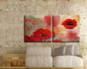 Wife Gift, Gift Woman Home, Abstract Canvas Art, Flower Art Set, Canvas Print, Floral Wall Art, Art Set Print, Abstract Flowers