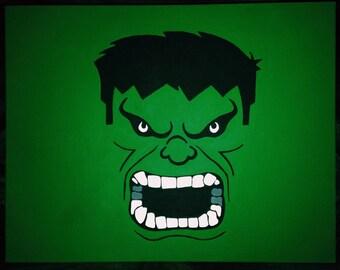 Handpainted Hulk Canvas Plaque