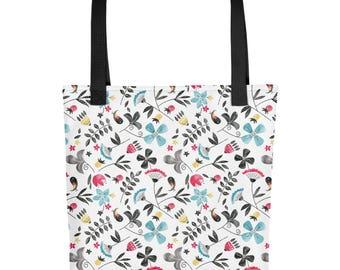 Retro Floral Tote bag   Bag   Studio Carrie   Gift