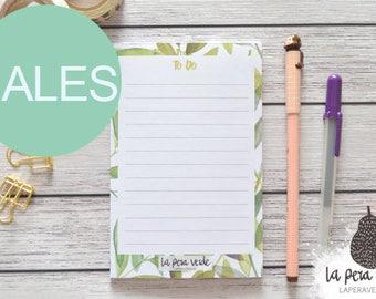 PLANTS NOTEPAD, plants notepad, illustration notepad, notepad to do list, to do list, illustration plants, notepad, nature notepad, notepad