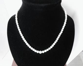CULTURED PEARL NECKLACE sterling silver clasp