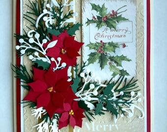 Beautiful Handmade Christmas Greeting Card #WC2017-FL