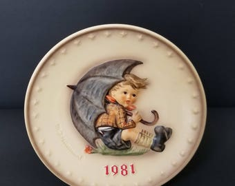 1981 Hummel Plate  - Goebel Collector Plate  - Hum 274 - Collector Plate