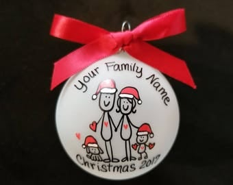 Family ornament,Personalized family Christmas ornament,custom personalized family Christmas ornament,angle ornament,handpainted,gift
